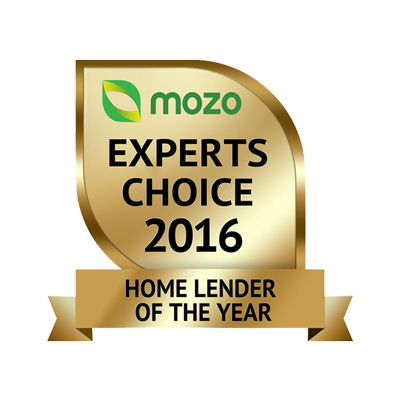 Mozo Home Lender of the Year award image
