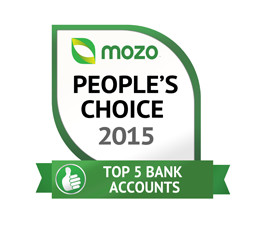 Mozo Peoples choice Top 5 bank accounts award
