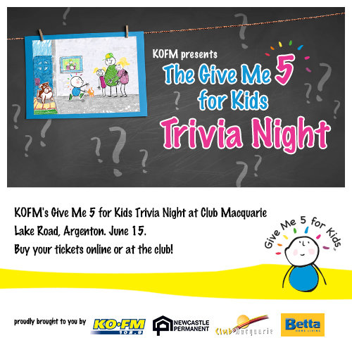 Gimme 5 For Kids trivia night